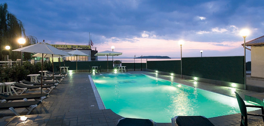 Hotel Lido, Lake Trasimeno, Italy - Outdoor Pool by night.jpg